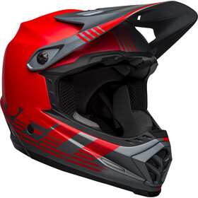 Bell Full-9 Fusion MIPS Helm louver matte gray/red
